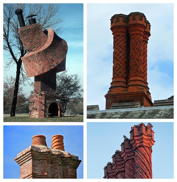 Weird and wonderful brick chimneys