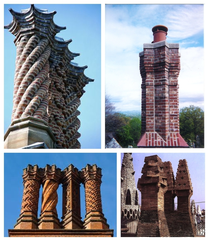 Weird and wonderful brick chimneys