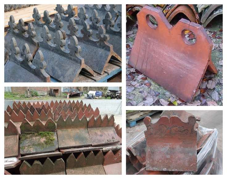 Decorative Victorian / Edwardian ridge tiles