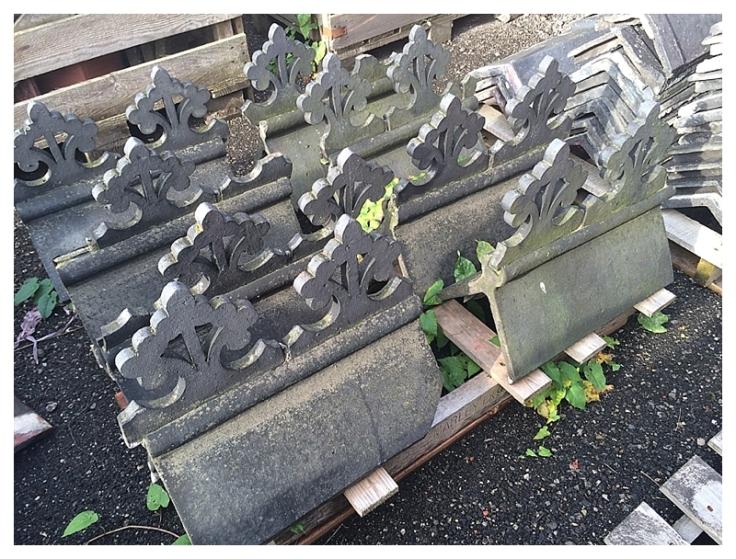 Decorative Gothic ridge tiles Manchester
