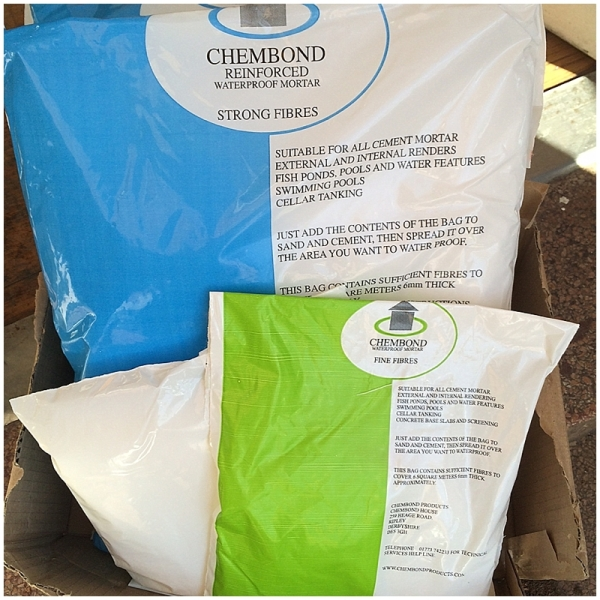 Chembond strong fibes for mortar and render mix