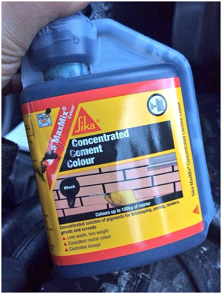 Using Sika Cement dye / colour