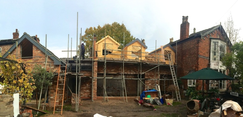 Extension to Edwardian red brick property