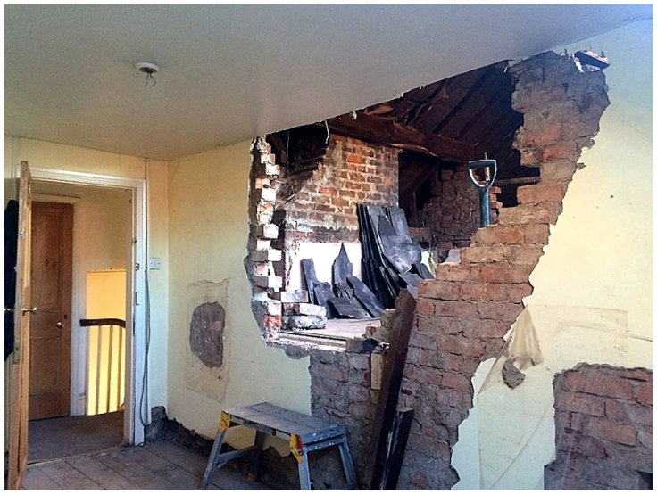 Knock through brick wall to create dormer bedroom