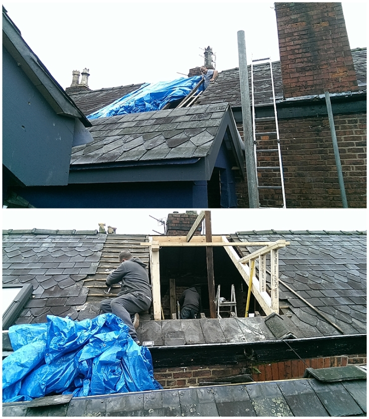 Creating a dormer bedroom through the natural Welsh slate roof of an Edwardian house in Manchester