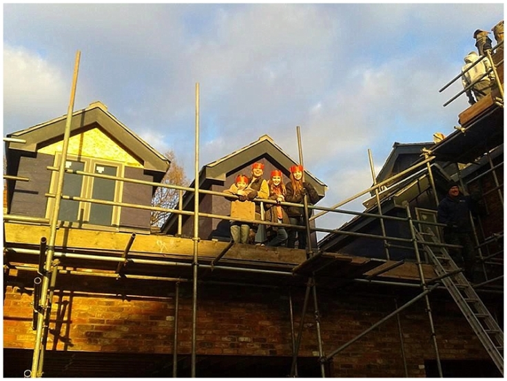 Christmas on the scaffolding