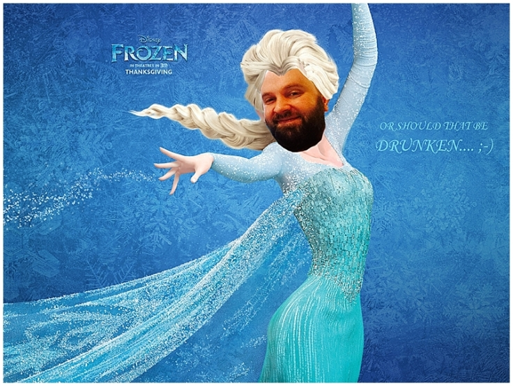 Drunken Butcher as Elsa