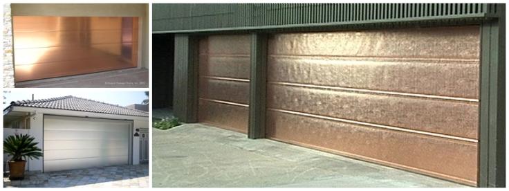Copper and brushed aluminium garage doors