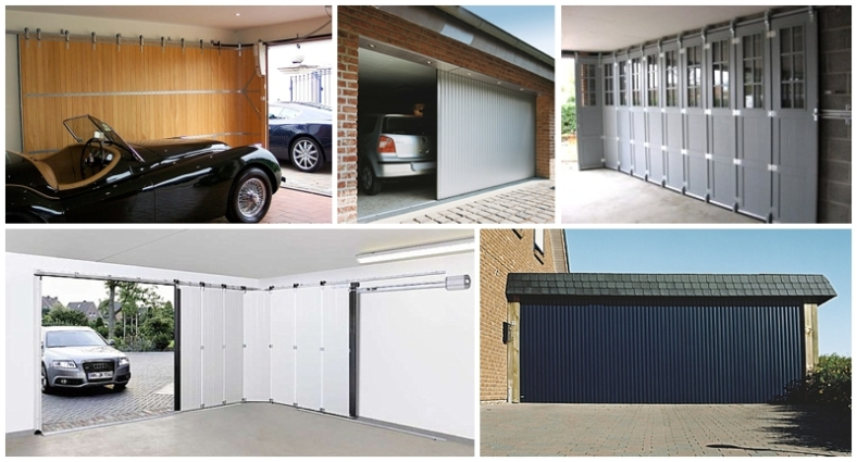 Contemporary vertical sliding garage doors