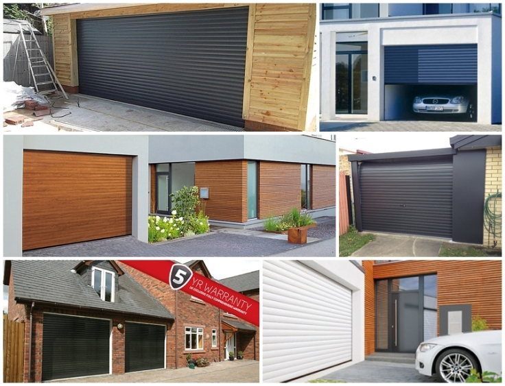 Contemporary attractive roller garage doors