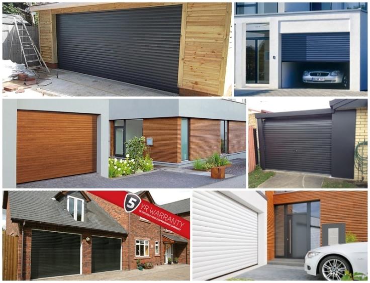 Contemporary attractive roller garage doors