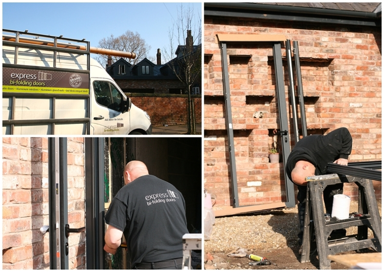 Express Bifolds installation for Moregeous Design Sian Astley