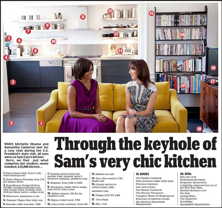 Samantha Cameron's kitchen