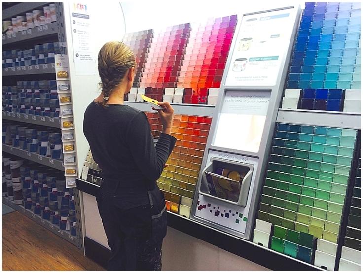 Sian Astley lady builder choosing Valspar paint colour