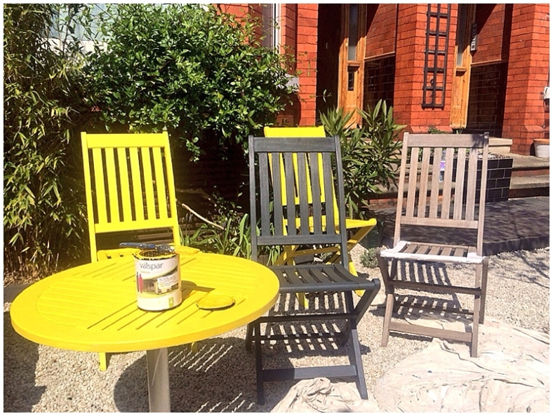 Painting garden furniture with Valspar garden range