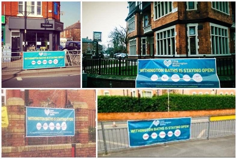 Love Withington Baths banners