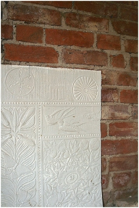 Period wallpaper saved from on wall