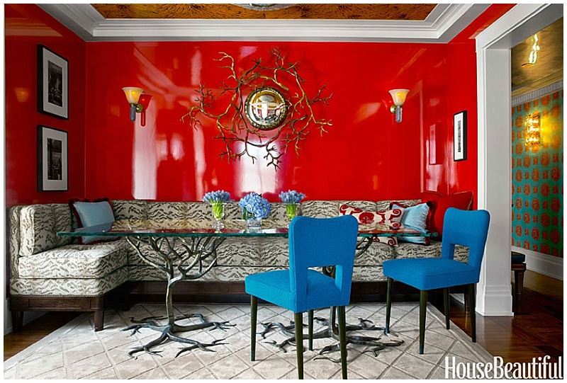 Red Colour Wall: Lacquer And Gloss On Walls & Ceilings