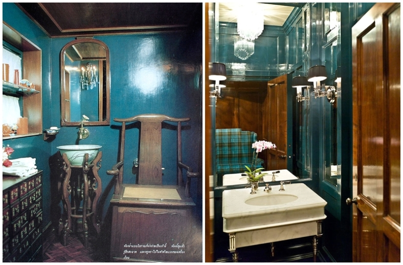 Left: Bertolini Bathroom via Pinterest. Right: Via www.wsroominabox.com