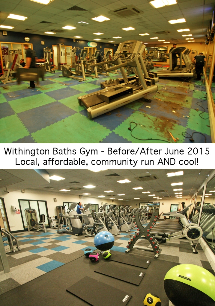 Withington Baths Gym before & after 2015