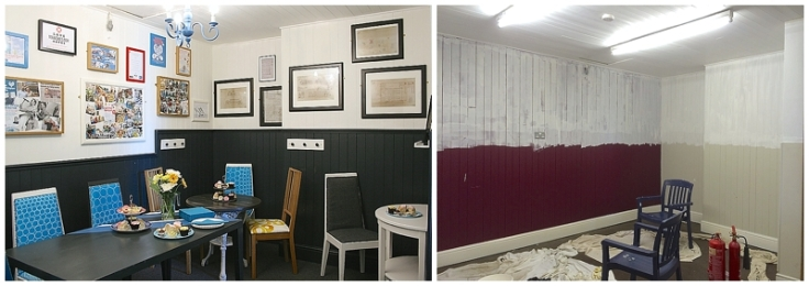 Withington Baths cafe before & after