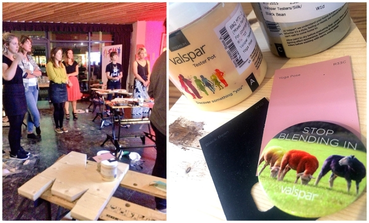 Valspar paint blogger evening with B&Q and Charis Williams