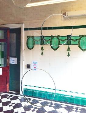 Glass reception in Edwardian Baths