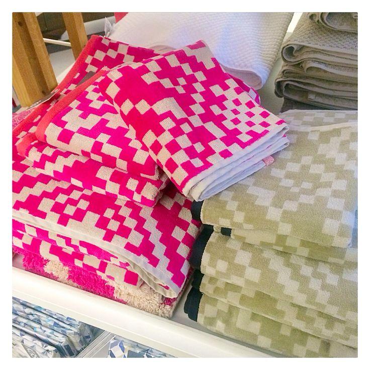 Pink pixel towels