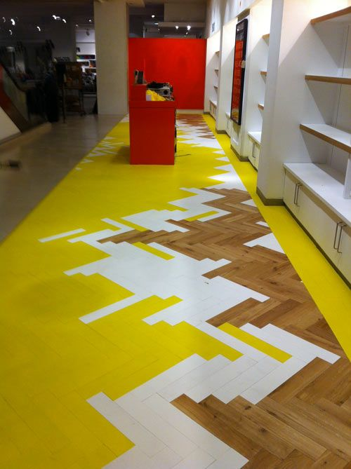Coloured parquet
