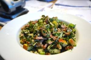 Kale, Bacon and Apple Salad, but Moregeous