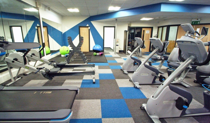 Pixel flooring in Withington Baths gym