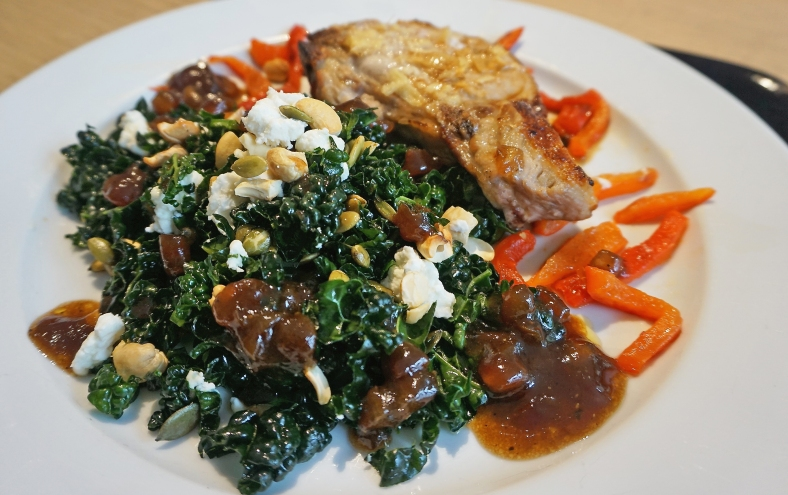 Cavolo Nero with Ginger Pork Chop