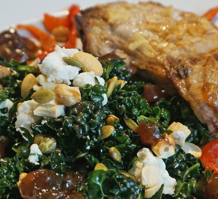 Cavolo Nero with nuts and goats cheese