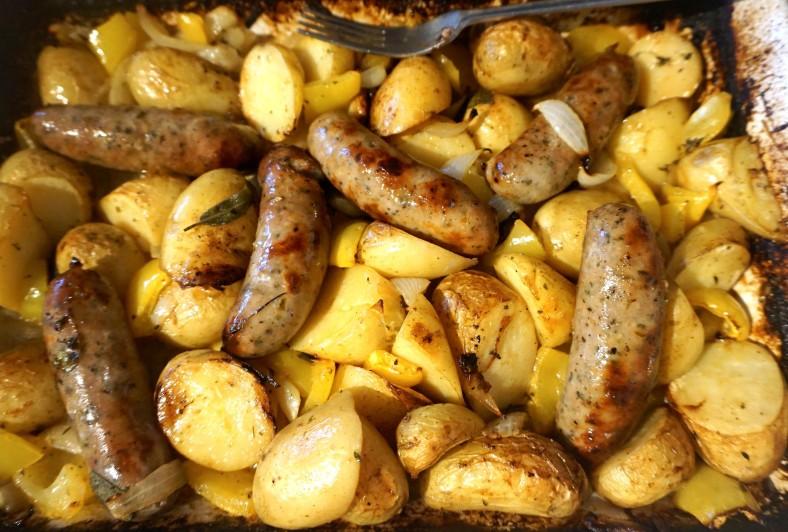 Herby Wine Sausage Roast