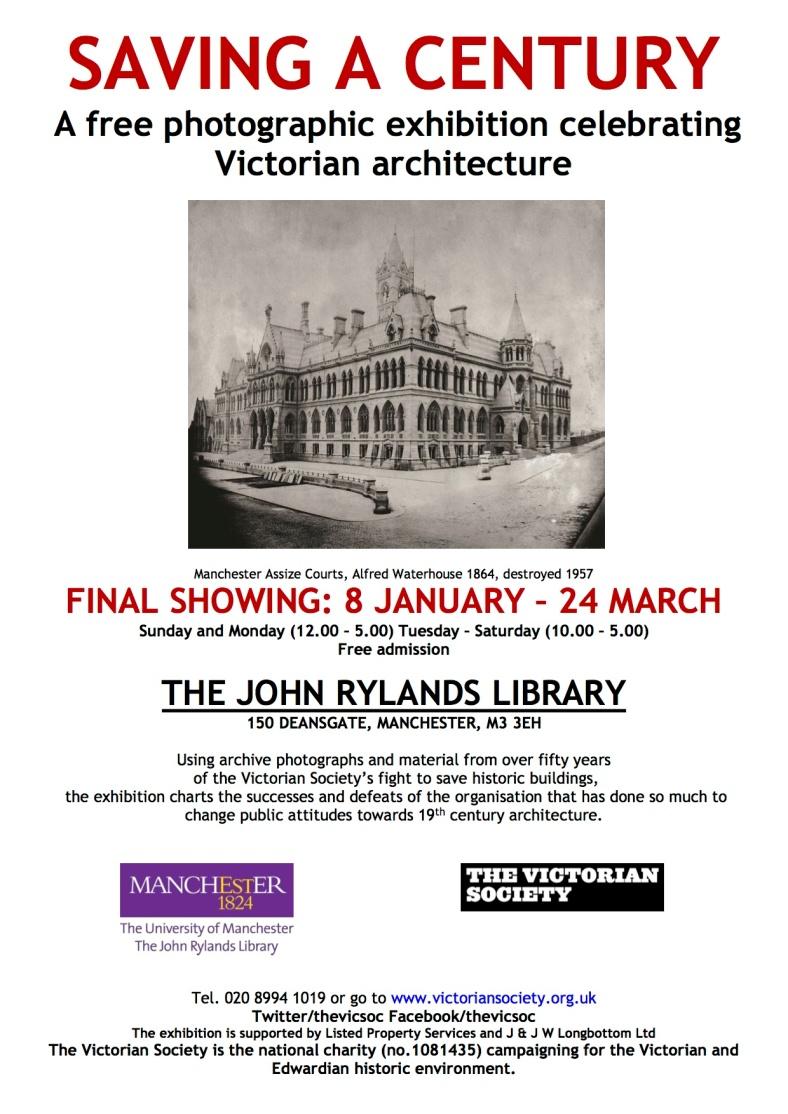 SAC Manchester Rylands poster