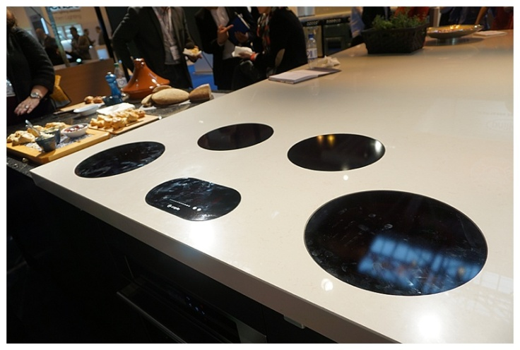 Moregeous at KBB 2016 Caple surface sunk induction hob