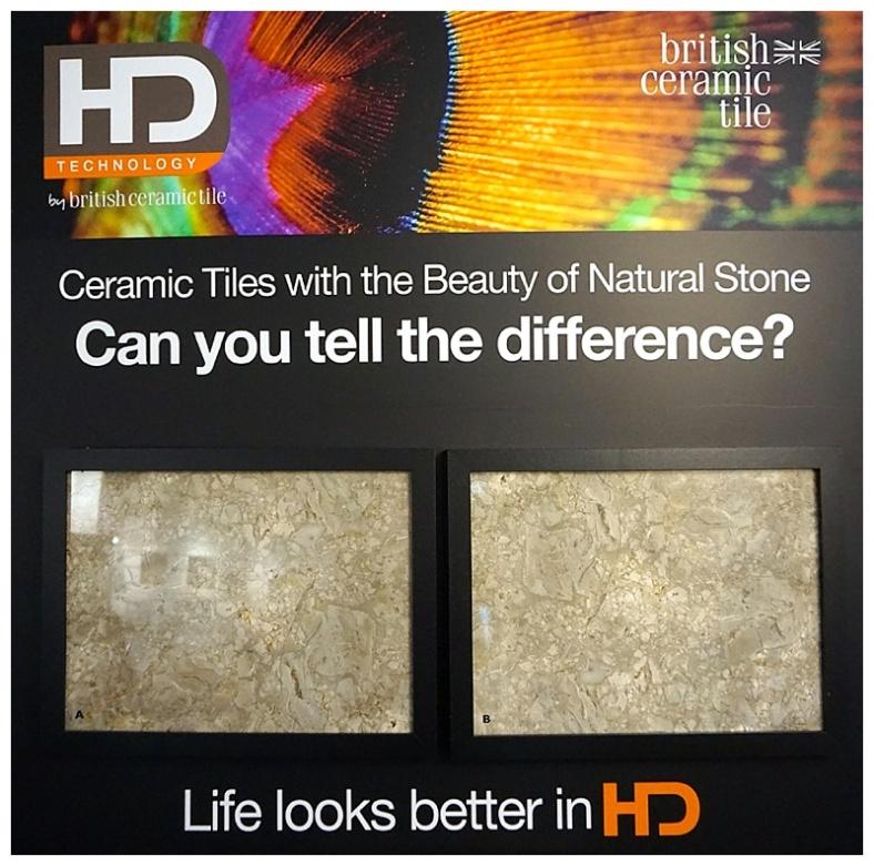 HD laser printed tile
