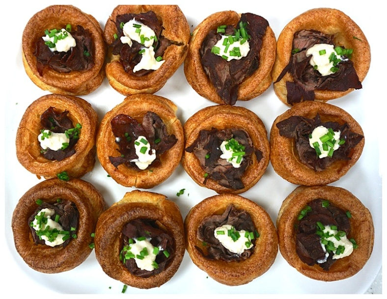Mini beef Yorkshire puddings