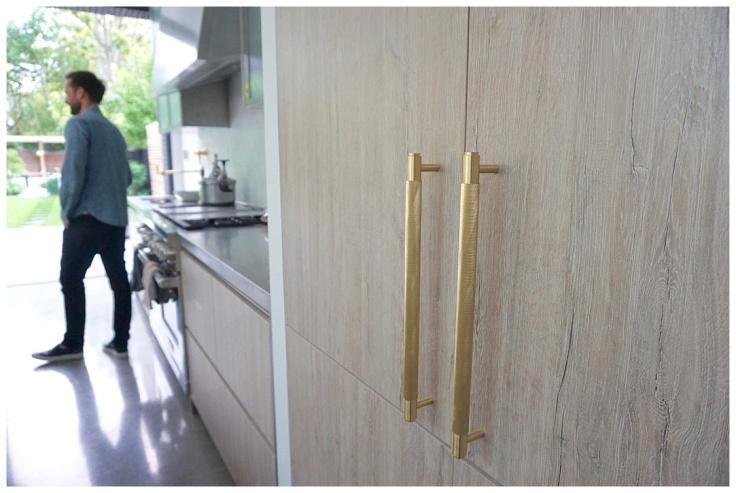 Buster & Punch brass kitchen handles