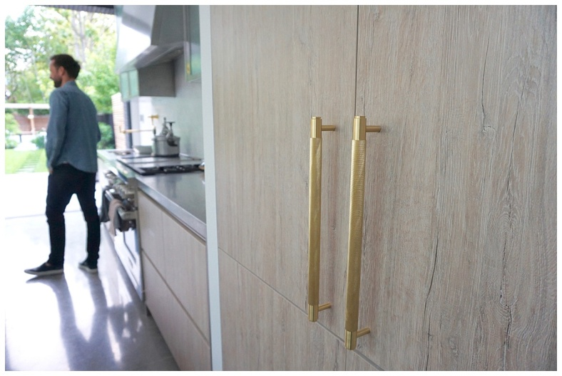 Buster & Punch brass kitchen handles