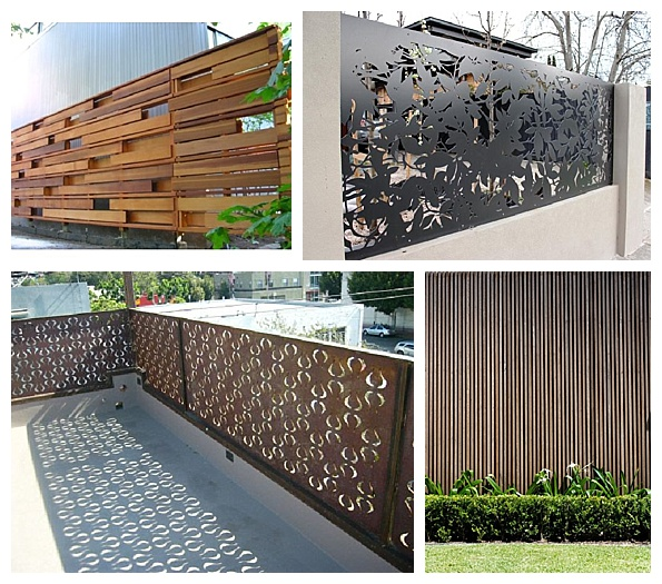 Contemporary gorgeous fence panels