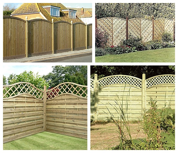 Trellis top fence panels