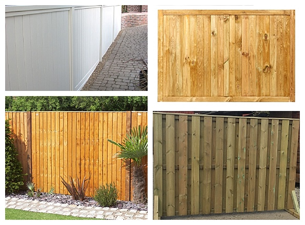 Vertical slat fence panels
