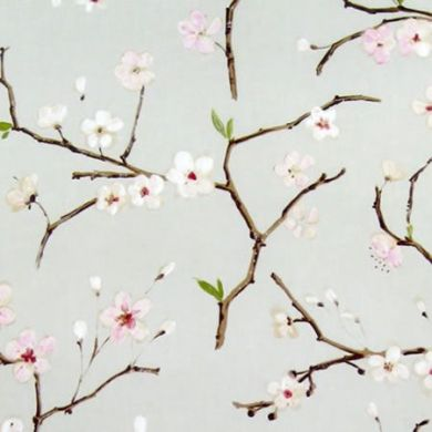 Soft Apple Blossom Oilcloth