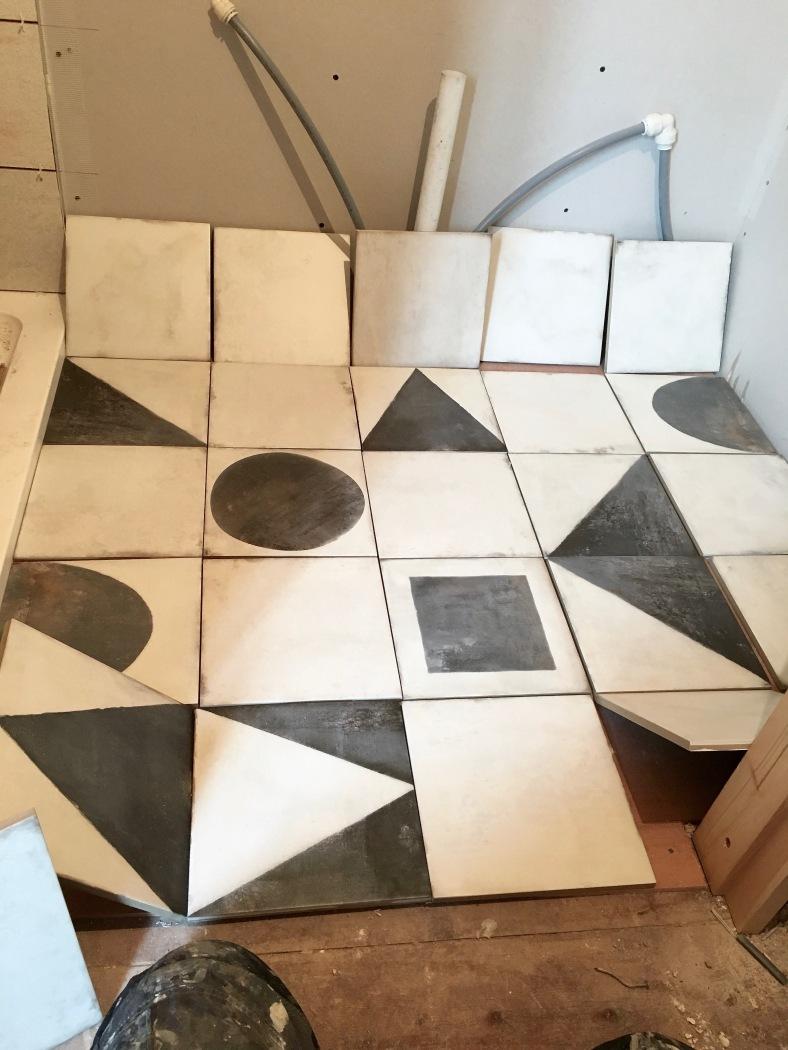 Mandarin Stone Monochrome geometric tiles
