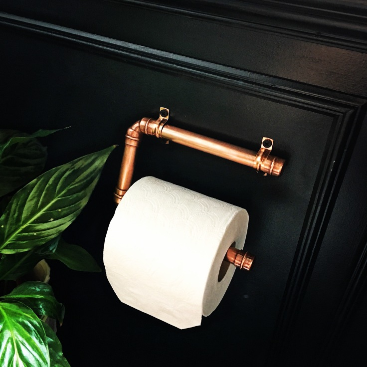 Copper Loo Roll Holder