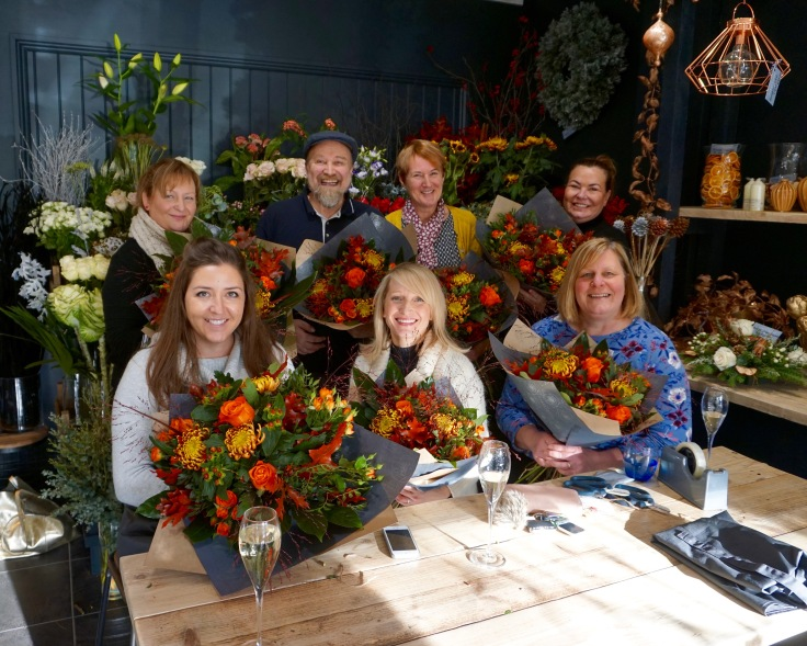 Flower Lounge workshop group