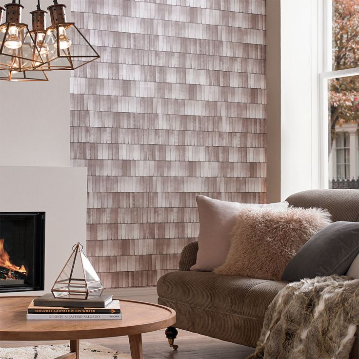 Graham & Brown Hygge Shingle Wallpaper