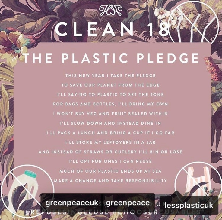 Clean 18 : New Year, New Start With The Greenpeace Plastic Pledge