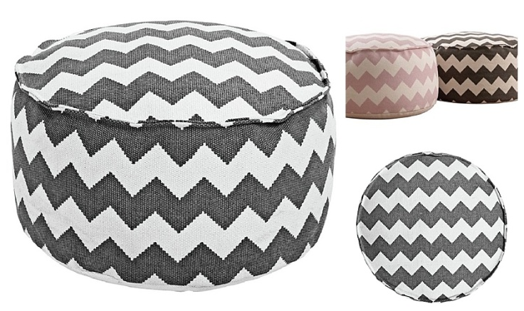 Chevron footstool